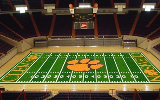 clemson home basketball court